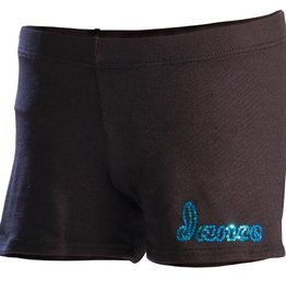 MotionWear 1765-Shorts-BLACK with print- SMALL