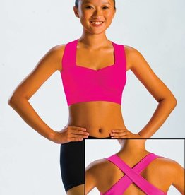 MotionWear 3000-Top pinch Front cross back-RASPBERRY-LARGE