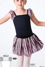 MotionWear 1057-Skirt BLACK POKA DOT ON PINK-MEDIUM CHILD