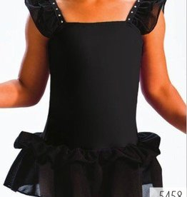 MotionWear 5458-Dance Dress-BLACK-IC (6X7)CHILD
