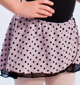 MotionWear 1007-600-Pull-On Two Tier Wrap Skirt-PINK-MEDIUM CHILD