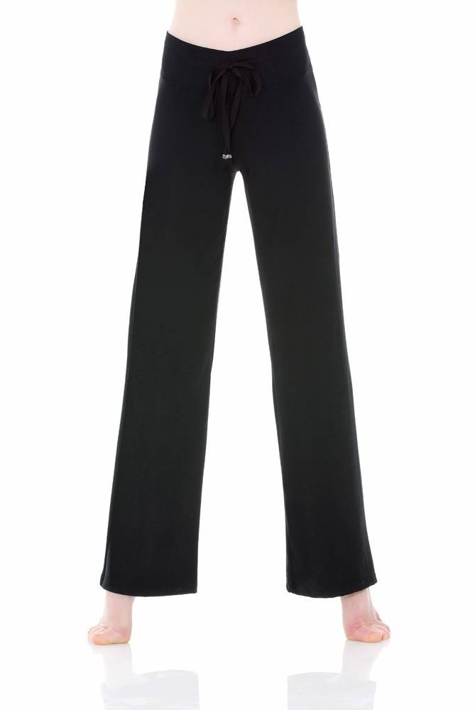 Mondor 3530-Hight waisted Matrix pant-BLACK-LARGE
