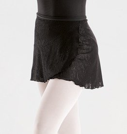 MotionWear 1021-558-Wrap Tie Short Skirt-BLACK-MA