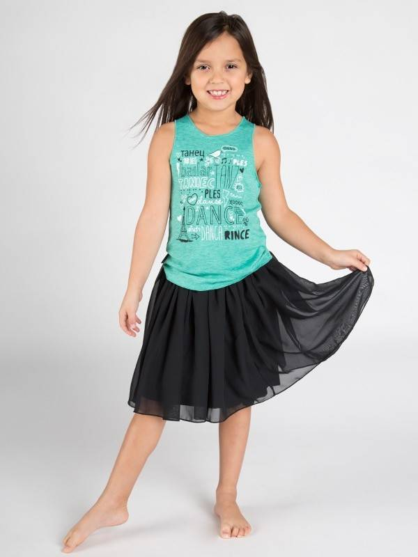 Sugar & Bruno D7680-Dance Languages Racerback-GREEN-ONE SIZE CHILD