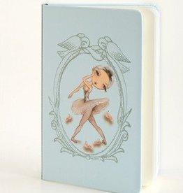 B Plus 304BP03-Ballet Paper Notebook ,3''x 5-SWAN QUEEN