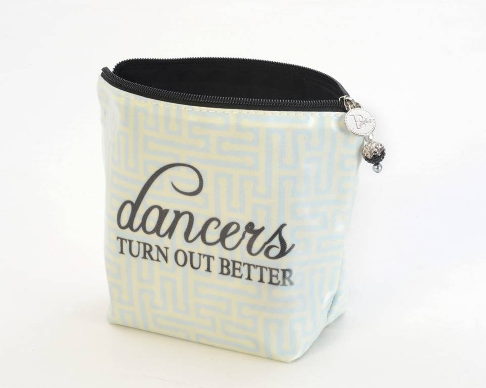 B Plus 400CC11-Chit Chat Large Cosmetic bags-8''x 6''x 3''-Dancer Turn Out Better