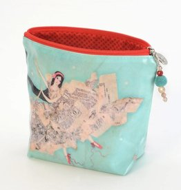 B Plus 402VV03-Vanessa Valencia Large Cosmetic bags 8''x 6''x 3''-Theater of Dream