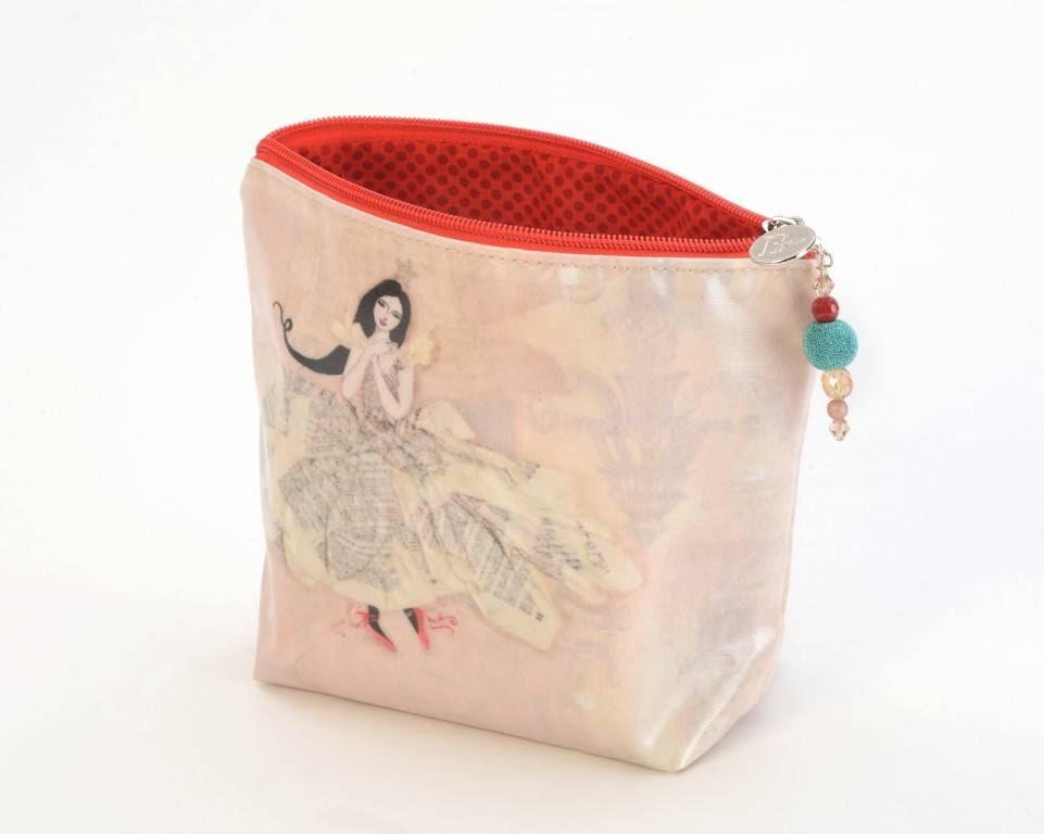 B Plus 402VV04-Vanessa Valencia Large Cosmetic bags 8''x 6''x 3''-Swan Dance