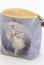 B Plus 403VIN01-Vintage Marie Taglioni Large Cosmetic bags 8''x 6''x 3''-Letter