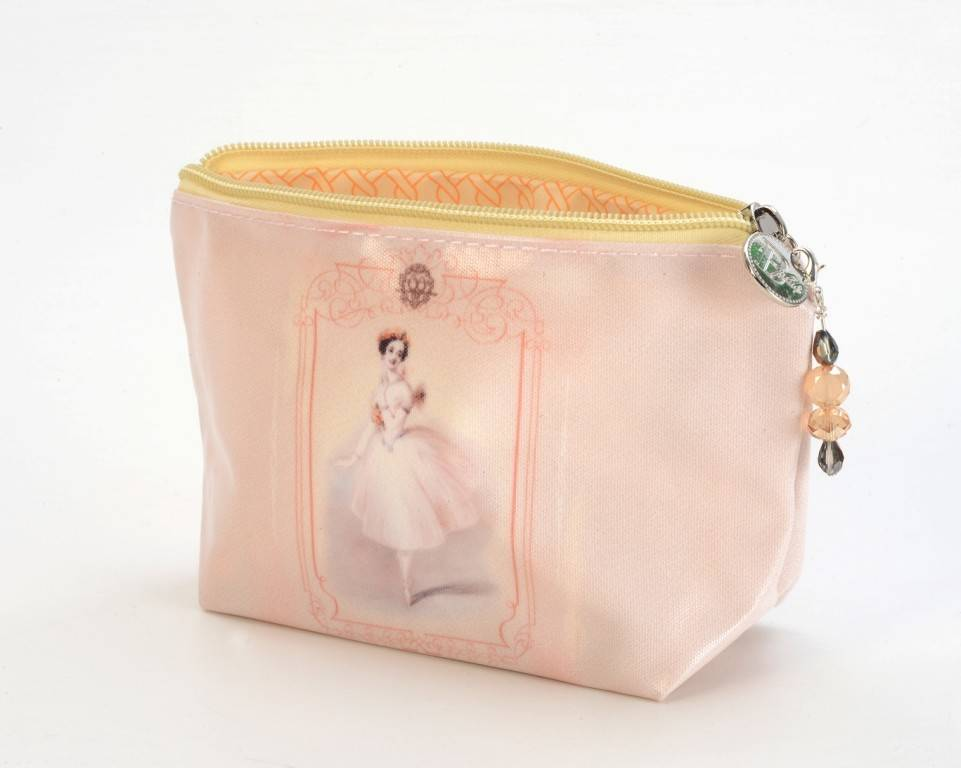 B Plus 403VIN02-Vintage Marie Taglioni Large Cosmetic bags 8''x 6''x 3''-Love Bird