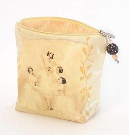 B Plus 403VIN04-Vintage Marie Taglioni Large Cosmetic bags 8''x 6''x 3''-Pas de Quatre