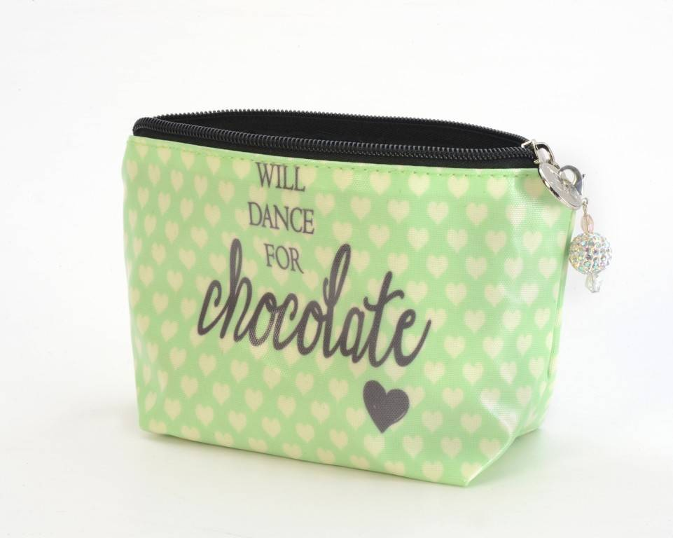 B Plus 450CC49-Chit Chat Small Cosmetic bags 7''x 4''x 2 1/4''-Will Dance For Chocolate