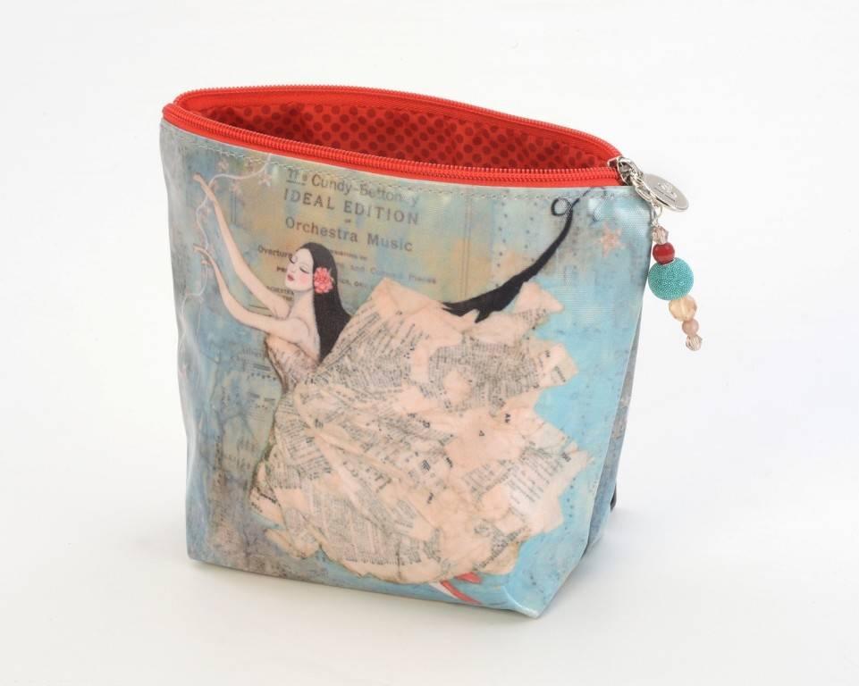 B Plus 452VV01-Vanessa Valencia Small Cosmetic bags 7''x 4''x 2 1/4''-Bright star of Love