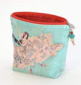 B Plus 452VV03-Vanessa Valencia Small Cosmetic bags 7''x 4''x 2 1/4''-Theater of Dream