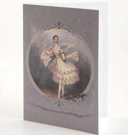 B Plus 203VIN01-Vintage Marie Taglioni Embossed Blank Cards 5''x 7''-Letter