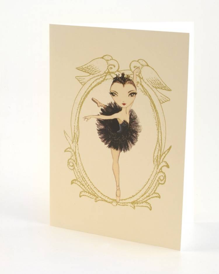 B Plus 204BP01-Ballet Paper Blank Cards 5''x 7''-Odile