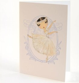 B Plus 204BP03-Ballet Paper Blank Cards 5''x 7''-Swan Queen