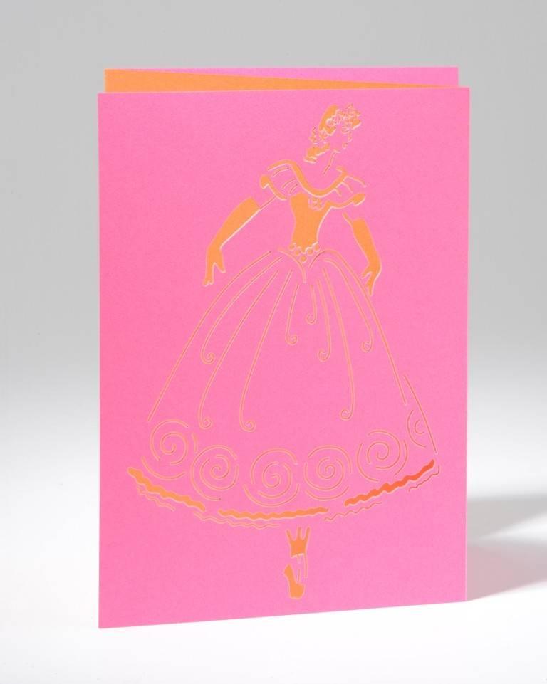 B Plus 201CO01-Caroline Ochoa Laser Cut Blank Card 41/2''x 61/4''-Releve