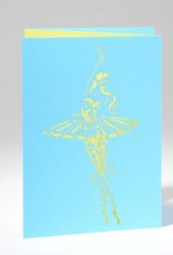 "B Plus 201CO04-Caroline Ochoa Laser Cut Blank Cards 41/2''x 61/4'""-En pointe"