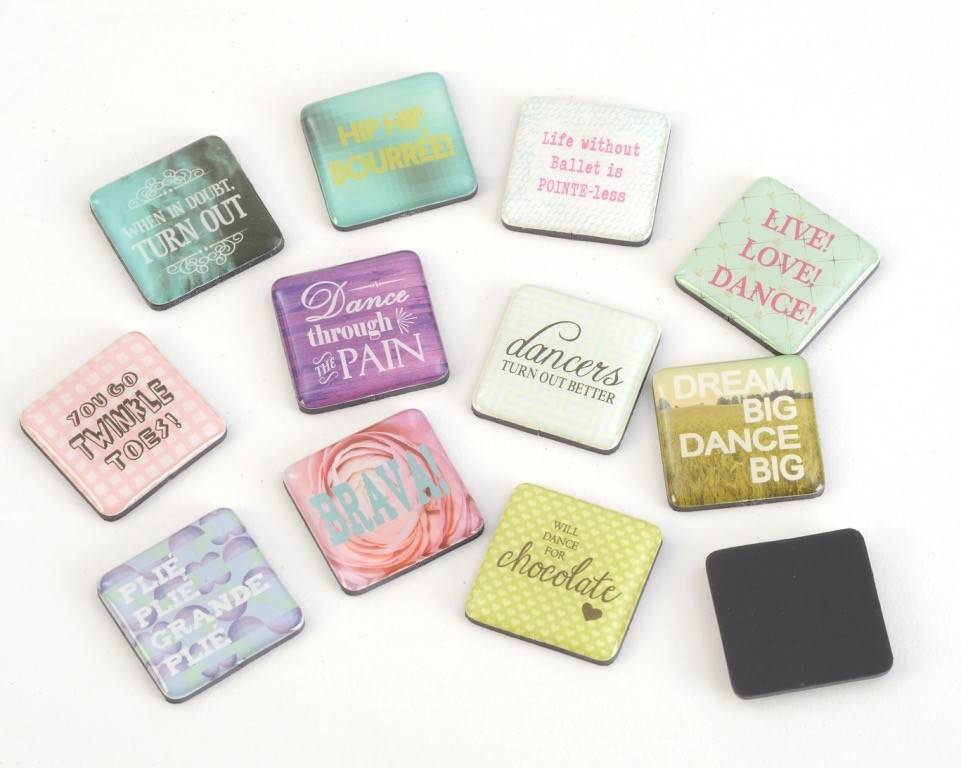 B Plus 600CC01-Chit Chat Epoxy Magnet 12 designs