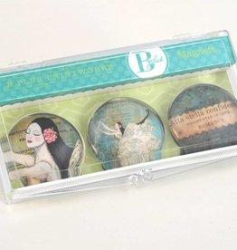 B Plus 502VV01-Vanessa Valencia Glass Magnets 3 Per -Bright star of love