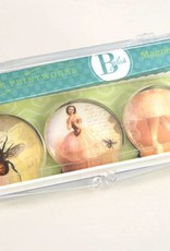 B Plus 503VIN03-Vintage Marie Taglioni Glass Magnets 3 Per Box-Bee