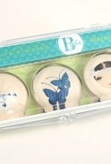 B Plus 504BP05-Ballet Papier Glass Magnets 3 Per Box-Giselle Free