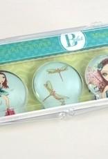 B Plus 504BP07-Ballet Papier Glass Magnets 3 Per Box-Ambar Fairy