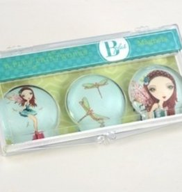 B Plus 504BP07-Ballet Papier Glass Magnets 3 Per Box-Ambar Fairy