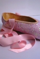 Merlet PULSION-Pink Glitter Pointe Shoes-ONE SIZE