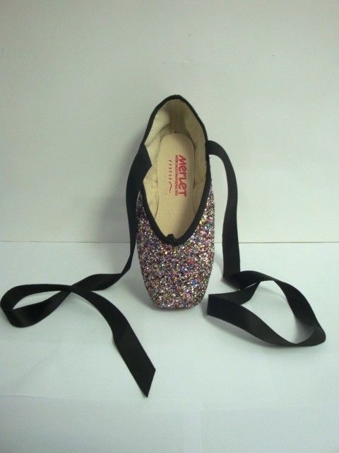 Merlet PULSION-Multicolor Glitter Pointe Shoes-ONE SIZE