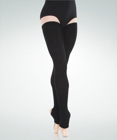 "BodyWrappers 92-Extra-Long Stirrup Leg Warmers 48"""