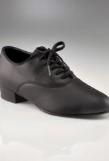 """Capezio 445-Men Shoes 1"""" (Oxford) Leather Sole-BLK-7"""