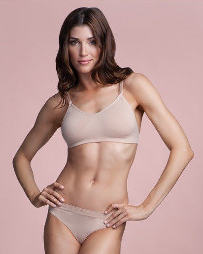 Capezio 3683-Seamless Clear Back Bra With Transition Straps-NUD