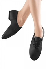 Bloch S0405L-Jazzsoft Leather Shoe Split Sole-BLACK