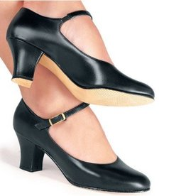 "SoDanca CH58-Character Shoes in Leather 2"", BLK"