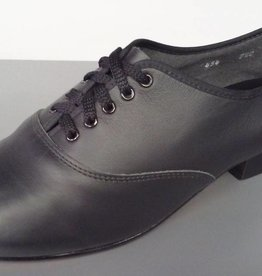 "Angelo Luzio 452-454-Men Shoes 3/4"" Leather sole-BLACK"