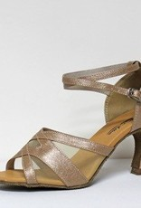 "Atten 291-Ballroom Shoes 2.75"" Suede Sole-TAN VINYL/MESH"