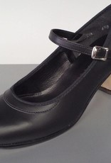 "Angelo Luzio 915L-Flamenco Leather Shoes 2.25""-BLK/LEATHER"