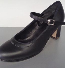 "Angelo Luzio 915L-Flamenco Leather Shoes 2.25""-BLK/LEATHER"