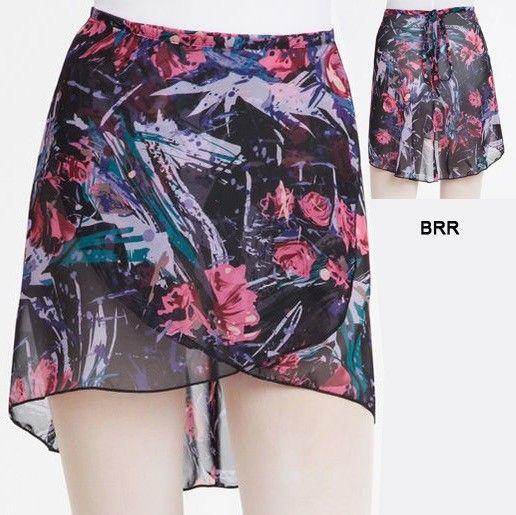 Capezio 1290-Print Wrap Skirt-BRR