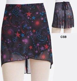 Capezio 1290-Print Wrap Skirt-CSB