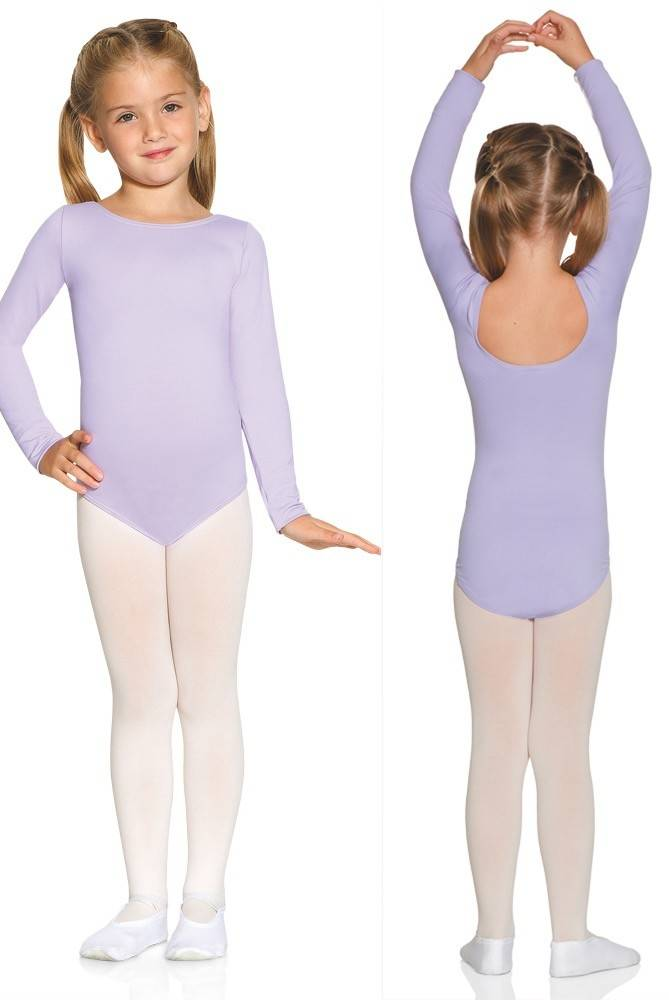 Mondor 40097-Long Sleeve Leotard Child- WHITE