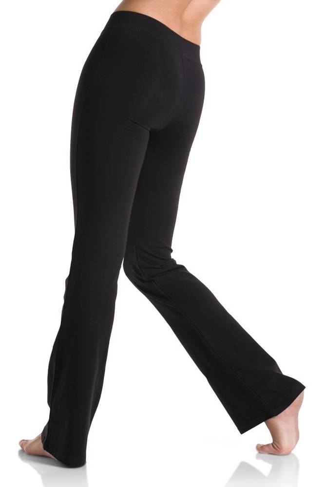 Mondor 1610-Jazz Pants with Flare Leg and a V waist-BLACK