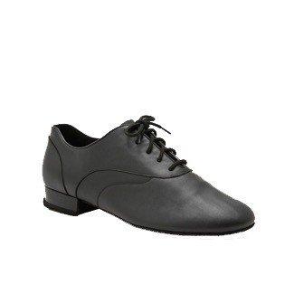 """Capezio BR1000-Ballroom Men Shoes 1"""" (Tony Smooth) Suede Sole-BLACK"""