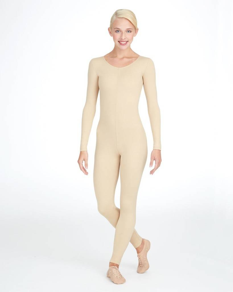 Capezio TB1114-Unitard Long Sleeve-NUD