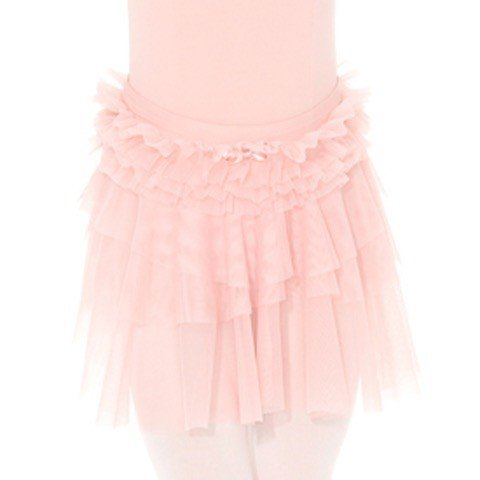 Mondor 40012-Mesh triple layered skirt with bow and mesh frill-WP WHIMSICAL PINK