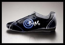 Ballo BALLO FLY-Ballroom Sneakers Unisex Suede Sole-BLACK/BLUE