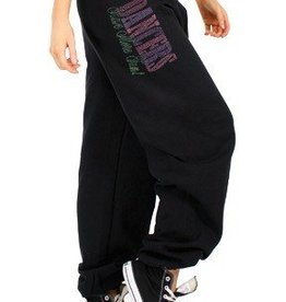 Heart & Soul DA421-Dancers Have More Fun Neon Nailhead Sweatpants-BLACK