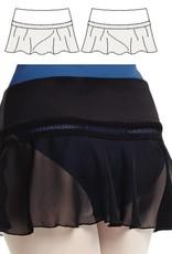 Mirella MS95-Mesh Skirt-BLACK
